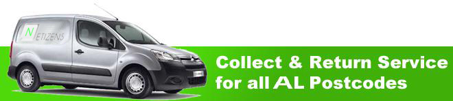Collect and Return Service to AL Postcodes